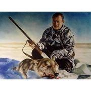 Портрет охотника с трофеем фото