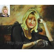 Портрет маслом на заказ Людмилы, портреты маслом в Москве фото
