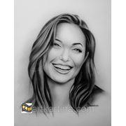 Как нарисовать черно-белый портрет Сухой кистью фото