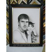 Портрет с фотографии на заказ фото