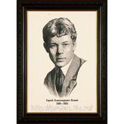 Портрет поэта Есенина нарисован карандашом, картины карандашом фото