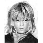 Детский портрет карандаш, нарисовать портрет карандашом, заказать портрет в карандаше фото