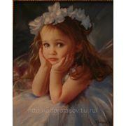 Детский портрет с фотографии, портрет в подарок,картина на заказ фото