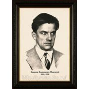 Портрет Маяковкого в графике карандашом фото