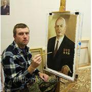 Художник Владислав Протасов пишет портрет Хрущева Заказ портрета в стиле соц. реализма фото