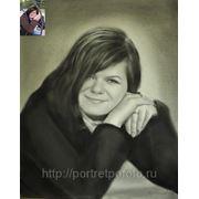 Женский портрет Маши, портрет выполнен в технике сухая кисть фото