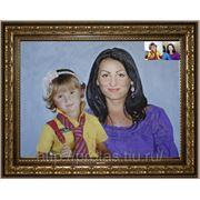 Семейный портрет с фотографии маслом, парный портрет маслом фото