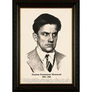 Портрет по фотографии Маяковского,художник Владислав Протасов, картина карандашом с фотографии фото