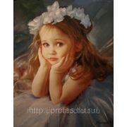 Детский портрет, портрет девочки с фотографии маслом, портреты детей фото