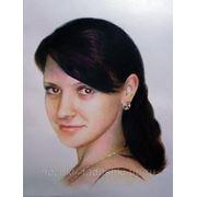 Портрет цветной пастельные карандаши, карандаш от А3 до А1 фото