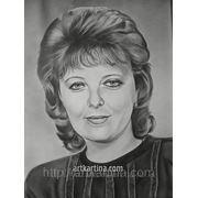 Графический женский портрет с фотографии фото