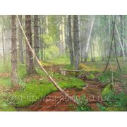 """Картина """"Ручей в лесу"""""""