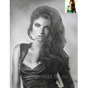 Портрет по фотографии модели, портрет на заказ по фото, заказать портрет фото