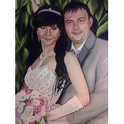 Заказать свадебный портрет маслом на холсте фото