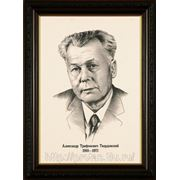 Портрет карандашом, Александр Твардовский, портреты писателей карандаш фото