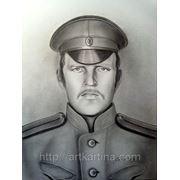 Мужской портрет в военной форме фото