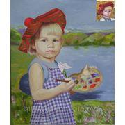 Маленький художник, портрет с фотографии на заказ фото