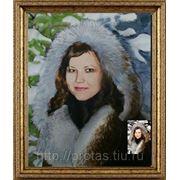 Заказать портрет маслом, заказ портрета маслом, заказать портрет по фото фото