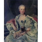 Портрет княгини Е. Д. Голицыной художник Луи МишельВанлоо копия фото