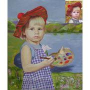 Ребенок художник, заказ портрета маслом фото