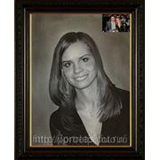 Портрет Марины с фото в технике сухая кисть, заказать портрет сухой кистью фото