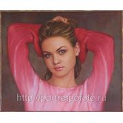 Портрет маслом, картина с фото, портрет по фотографии фото