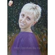 Цветной портрет с фото фото