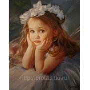 Детский портрет маслом, написание портретов маслом, портреты детей маслом фото
