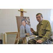 Заказ портрета в мастерской,художник Владислав Протасов за работой