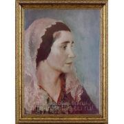 Портрет женщины в платке маслом, портрет маслом в Москве фото