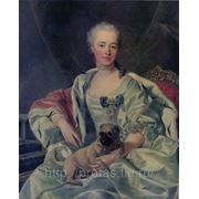 Портрет княгини Е. Д. Голицыной художник Луи Мишель Ванлоо копия фото