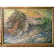 ,, Дерево, унесенное штормом» (в рамке) фото