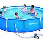 Каркасный бассейн Bestway steel pro max 366 см 76 см 56062 фото