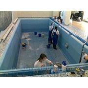 Чистка бассейна. фото