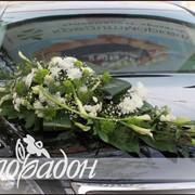 Украшение на машину из живых цветов фото