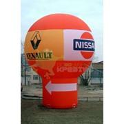 Надувной шар-сфера на опоре Авто салон фото