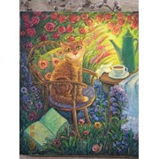 """В моем саду"", холст, масло, О.Величко, 60х70 фото"