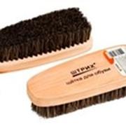 Щетка Штрих Основной уход для обуви деревяная с конским волосом 15см фото