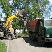 Вывоз строительного и бытового мусора фото