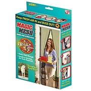 Дверные антимоскитные сетки на магнитах Magic Mesh фото