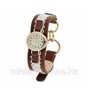 Модные кварцевые женские часы Julius с кожаным ремешком фото