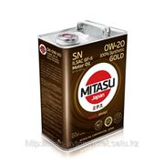 Масло моторное MITASU GOLD SN 0W-20 ILSAC GF-5 100% Synthetic MJ-102. фото