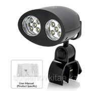 Многофункциональная светодиодная лампа с 10x яркими белыми светодиодами и зажимом.
