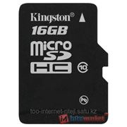 Flash Card Secure Digital (SD) MICRO 16GB Kingston SDC10/16GB Class 10 + SD adapter фото