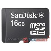 Flash Card Secure Digital SanDisk (SD) MICRO 16GB micro SDHC Class 4 + 1 SD adapter (066888)SDSDQM-O16G- B35A фото