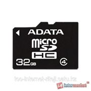 Карта памяти ADATA microSDHC Class 4 32GB + SD adapter фото