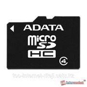 Карта памяти ADATA microSDHC Class 4 16GB + SD adapter фото