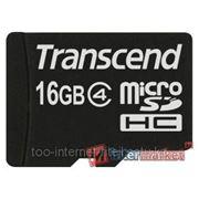 Флеш карта Transcend microSDHC 16Gb class4 (TS16GUSDC4) фото