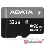 Карта памяти ADATA Premier microSDHC Class 10 UHS-I U1 32GB + SD adapter фото