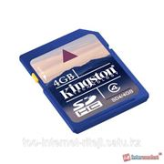 Карты памяти Kingston SDHC 4Gb Class4 SD4/4GB фото